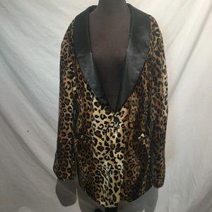 Vintage Nine Deep Cheetah Print Coat